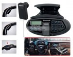iParaAiluRy® New Car Steering Wheel Car Kit with Bluetooth Headset, Phonebook, MP3 Player and FM Radio Black